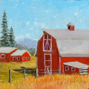 """Valley Farm"" original fine art by Robert Frankis"