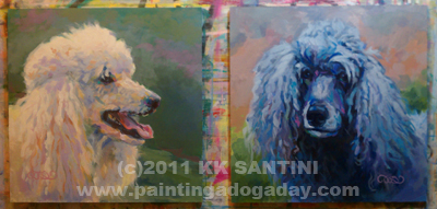 """Molly and Shadow"" original fine art by Kimberly Santini"