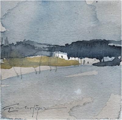 """paisaje 176"" original fine art by Emilio López"
