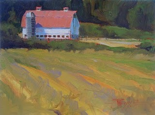 """Eatonville Farm  oil landscape painting"" original fine art by Robin Weiss"