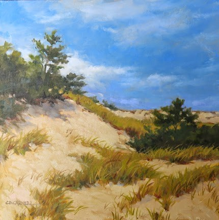 """'Dunes at Barnstable, Cape Cod'An Original Oil Painting by Claire Beadon Carnell"" original fine art by Claire Beadon Carnell"