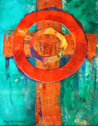 """Body of Christ, Contemporary Monoprints by Arizona Artist Amy Whitehouse"" original fine art by Amy Whitehouse"