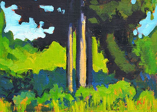 """""""Another of the Back Yard"""" original fine art by Kevin Inman"""