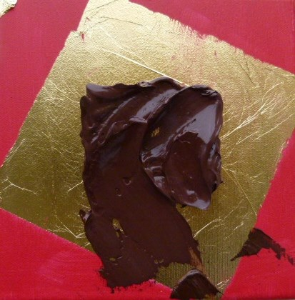"""schokolade on Gold"" original fine art by Sabine Hüning"