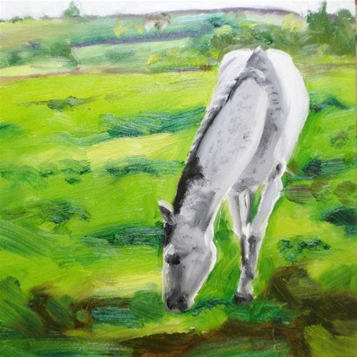 """A Horse of Course"" original fine art by Linda Lowery"