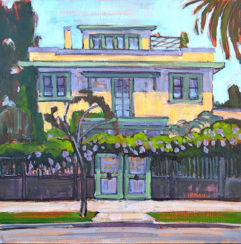 """The Yellow House"" original fine art by Kevin Inman"