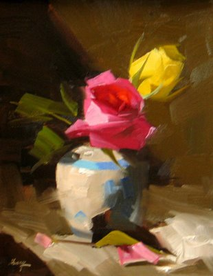 """""""Demo at Houston 3 --- Sold"""" original fine art by Qiang Huang"""