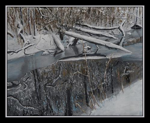 """Reflections on a Winter's Day"" original fine art by Captain B Smith"