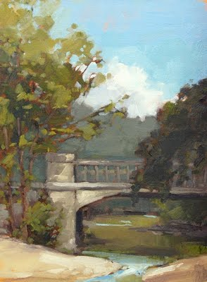 """Hyde Park Bridge"" original fine art by Laurel Daniel"