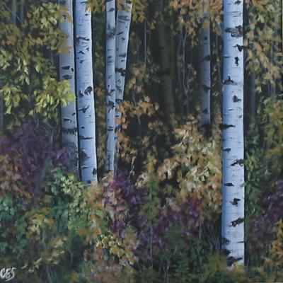 """Birch Beauty"" original fine art by ~ces~ Christine E. S. Code"