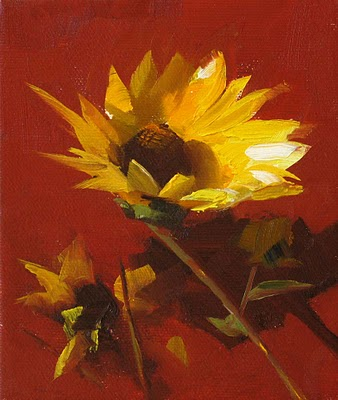 """Facing the Sun --- Sold"" original fine art by Qiang Huang"