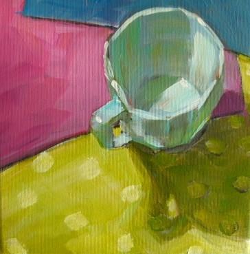 """Tasse,solo 2."" original fine art by Sabine Hüning"