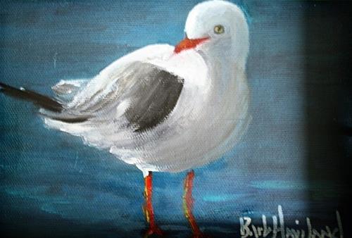 """Lone SeaGull"" original fine art by Barbara Haviland"
