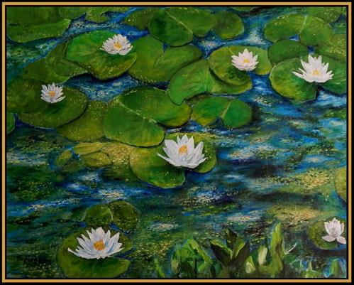 """Seven Blossoms"" original fine art by Captain B Smith"