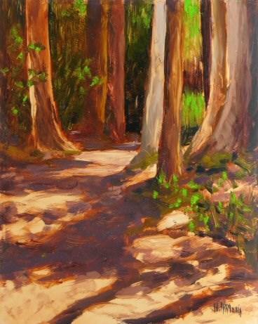 """""""Bastyr Trailhead"""" original fine art by Mary McInnis"""
