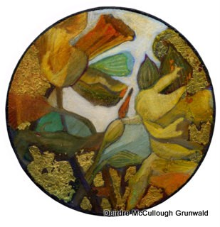 """Daffodils in the Round"" original fine art by Deirdre McCullough Grunwald"