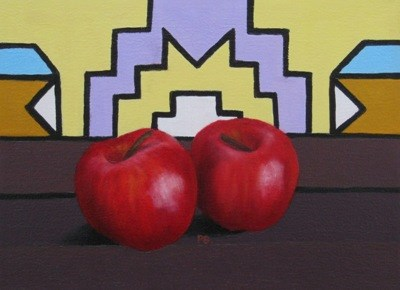 """Ndebele and Apple III"" original fine art by Pera Schillings"