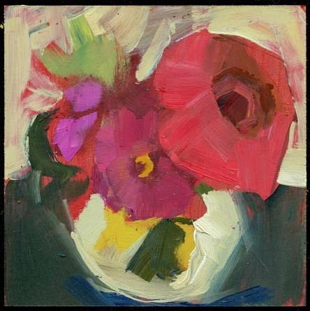 """2151 minor roadside violets"" original fine art by Lisa Daria"