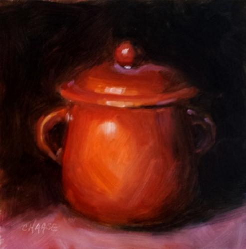 """Fall Crock"" original fine art by Cindy Haase"