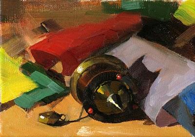 """Prayer Wheel"" original fine art by Qiang Huang"