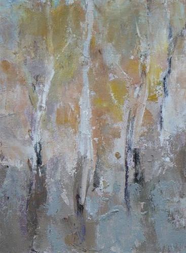 """Aspens IV"" original fine art by Susan Hammer"