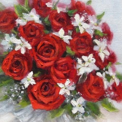 """""""Roses are Red"""" original fine art by Pat Fiorello"""
