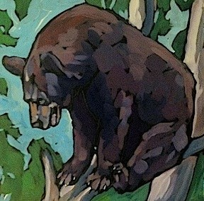 """Bruin Looking Down"" original fine art by Kat Corrigan"