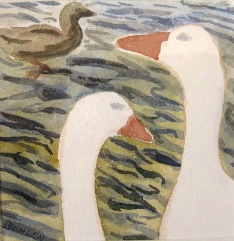 """ducks"" original fine art by Priscilla Bohlen"