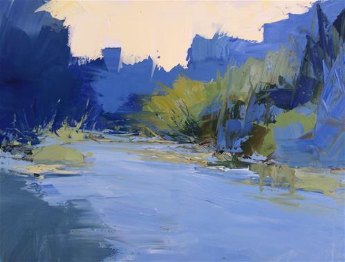 """Blue River"" original fine art by Sandra Pratt"