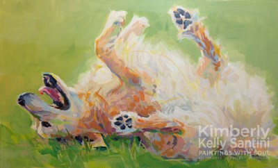 """Bear's Backscratch"" original fine art by Kimberly Santini"