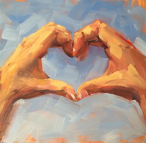 """Big Love"" original fine art by Deborah Newman"