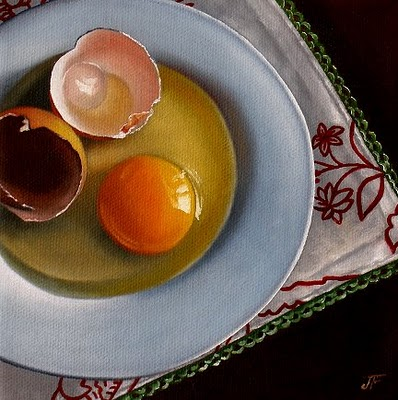 """Egg #10"" original fine art by Jelaine Faunce"
