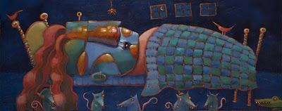 """The Glorious Night Beasts"" original fine art by Brenda York"