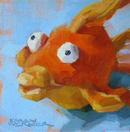 """Something Fishy"" original fine art by Karen Werner"