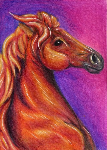"""Horse Head - MM15"" original fine art by Monique Morin Matson"