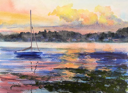 """Sunset Serenity"" original fine art by Jamie Williams Grossman"