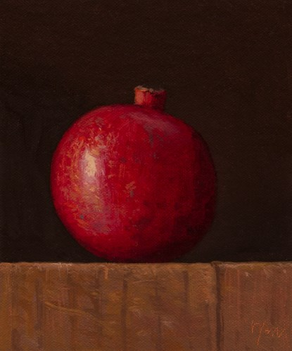 """Pomegranate"" original fine art by Abbey Ryan"