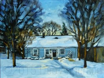 """North Star Over Glenview"" original fine art by Deb Anderson"