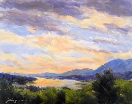 """Nearing Sunset at Olana 2"" original fine art by Jamie Williams Grossman"