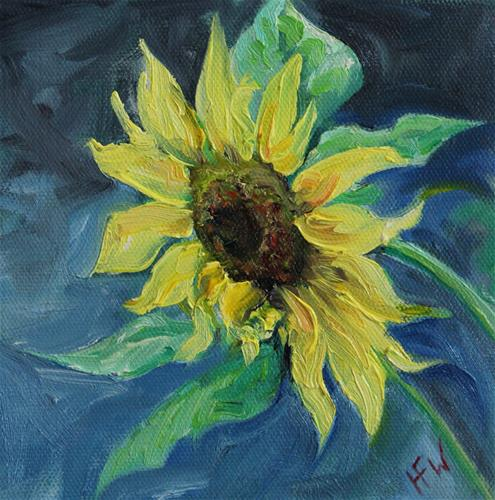 """Sunflower - Challenge"" original fine art by H.F. Wallen"