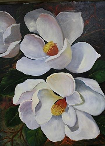 """Big Magnolias"" original fine art by Barbara Haviland"