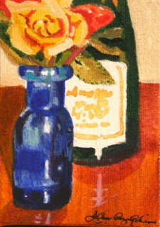 """Wine and Roses"" original fine art by JoAnne Perez Robinson"