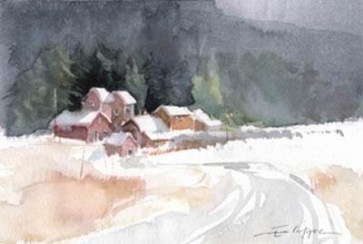 """""""Snowy 11"""" original fine art by Emilio López"""