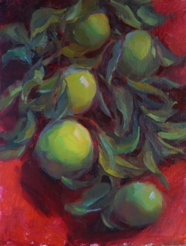 """Granny Smiths"" original fine art by Carol Myer"