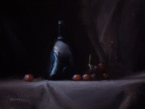 """Still Life with Red Grapes"" original fine art by Neil Carroll"