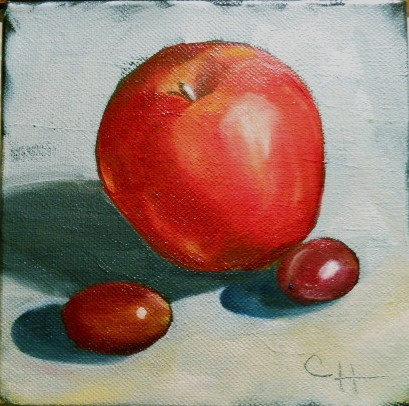 """Red Fruit"" original fine art by Claire Henning"
