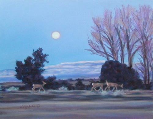 """Evening Stroll"" original fine art by Carol Zirkle"