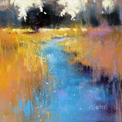 """Study for Golden Afternoon III"" original fine art by Barbara Benedetti Newton"