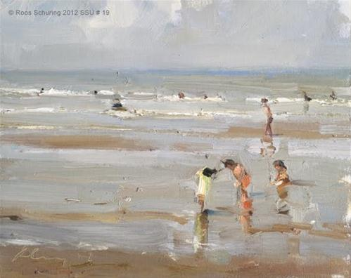 """Seascape summer # 19 Summer playground - Kinderen der Zee"" original fine art by Roos Schuring"