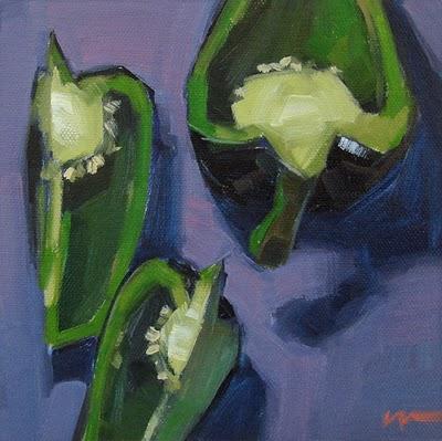 """Bell Pepper"" original fine art by Carol Marine"